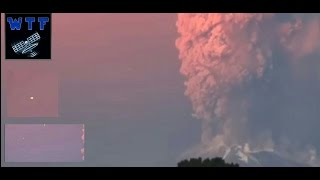 UFO Sighting! VULCANO Chili Calbucoring ERUPTION  Amazing footage 23-4-2015 New HOT!!!