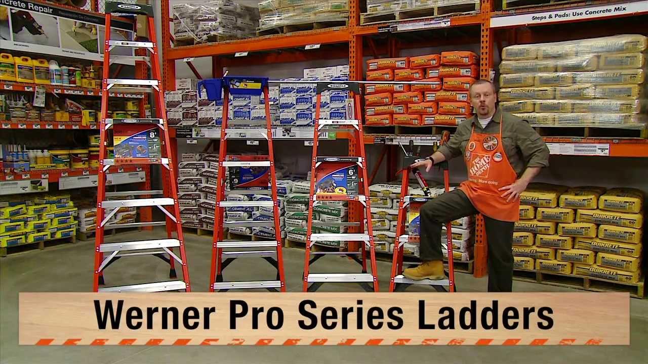 werner pro series fiberglass ladders the home depot