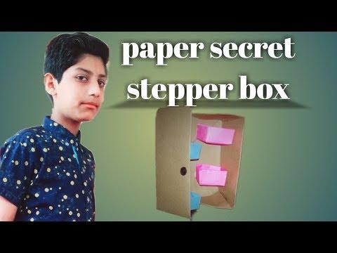 Origami Secret Stepper Box | Paper Craft | Secret box by sta tv