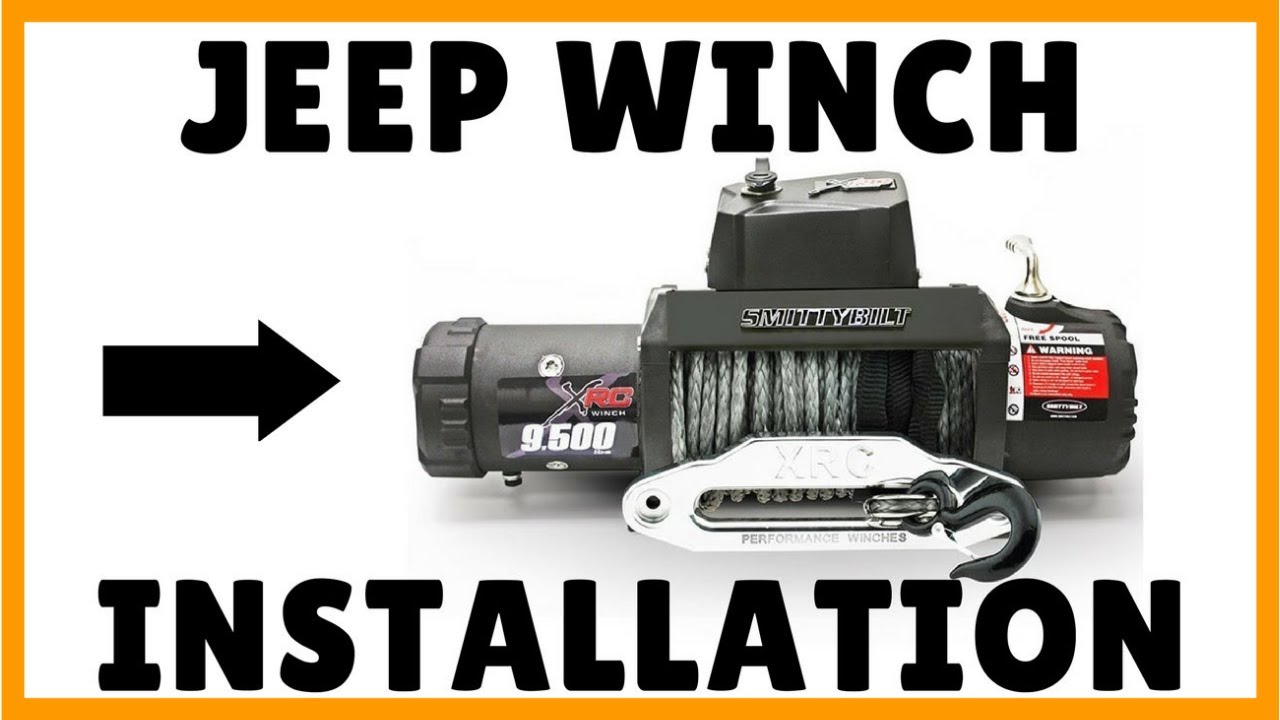 Jeep Wrangler Winch Install  Smittybilt 9500lb