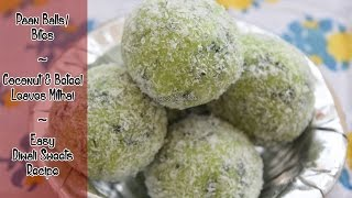Paan Balls/Bites | Coconut & Beteel Leaves Mithai | Easy Diwali Sweets Recipe