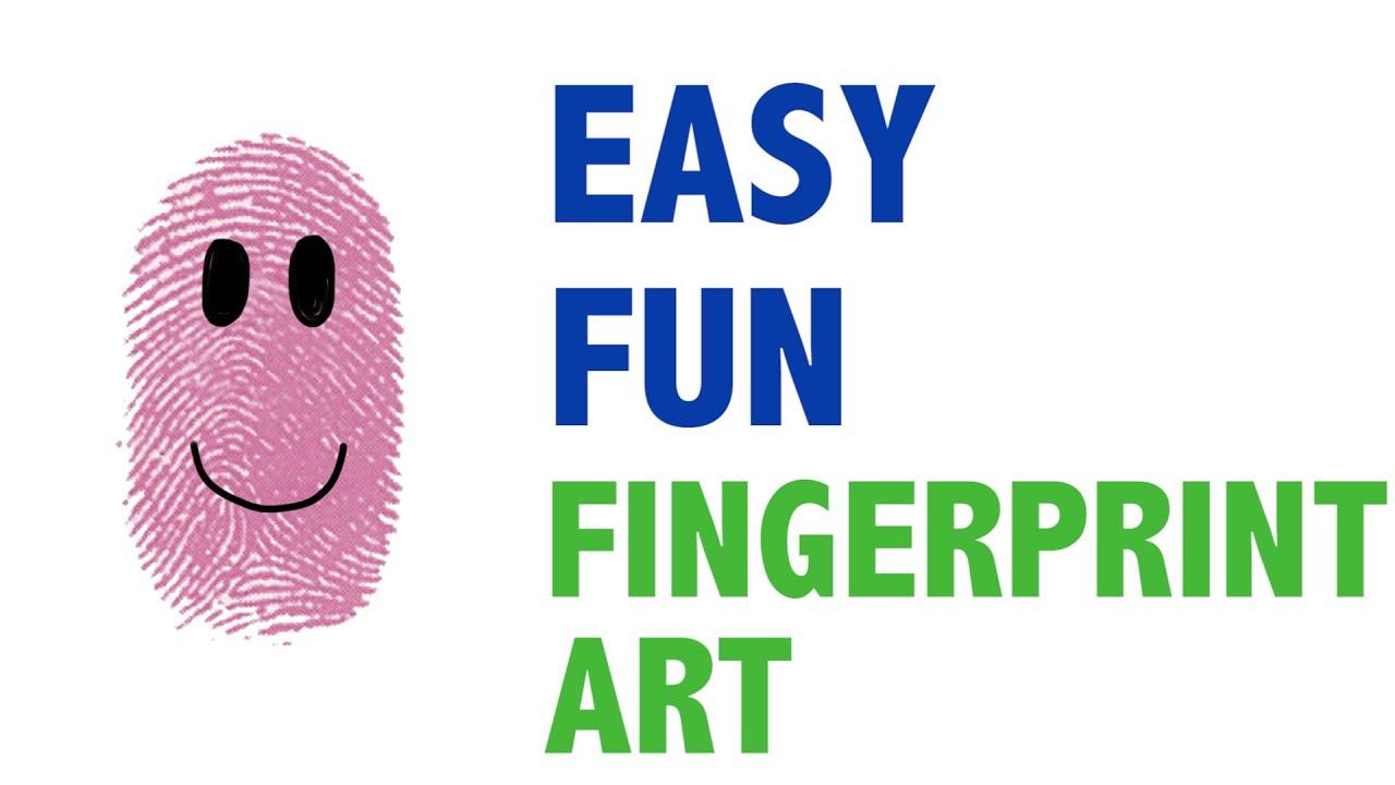 How To Make Easy Fingerprint Art For Kids