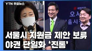 박영선, '서울시 재난지원금' 공약 우선 보류...야권…