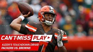 Cleveland Browns quarterback DeShone Kizer helps his team take the ...