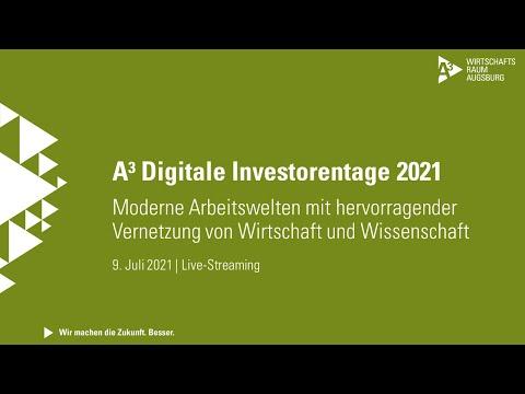 """A³ Digitale Investorentage: Livestream zum Thema """"Moderne Arbeitswelten""""  vom 9. Juli 2021"""