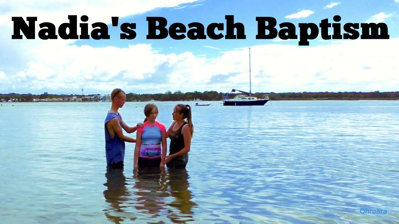 Nadia's Beach Baptism Australia