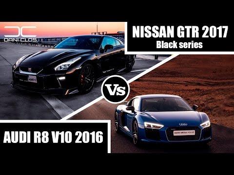 DRAG RACE - NISSAN GTR 2017 BLACK SERIES VS. AUDI R8 V10 2016 | Dani Clos