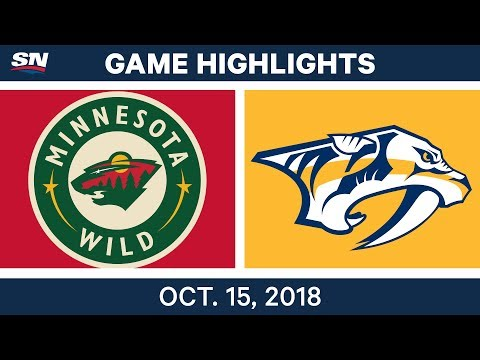 NHL Highlights | Wild vs. Predators - Oct. 15, 2018