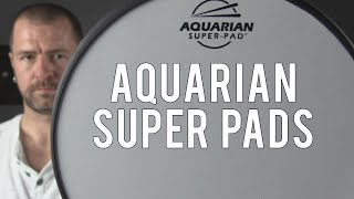 DRUM DEMO - AQUARIAN SUPER-PAD LOW VOLUME DRUM SURFACE