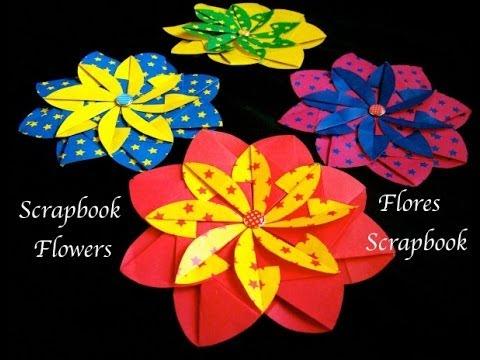 Origami Maniacs 128 Scrapbook Flower 2 Flor