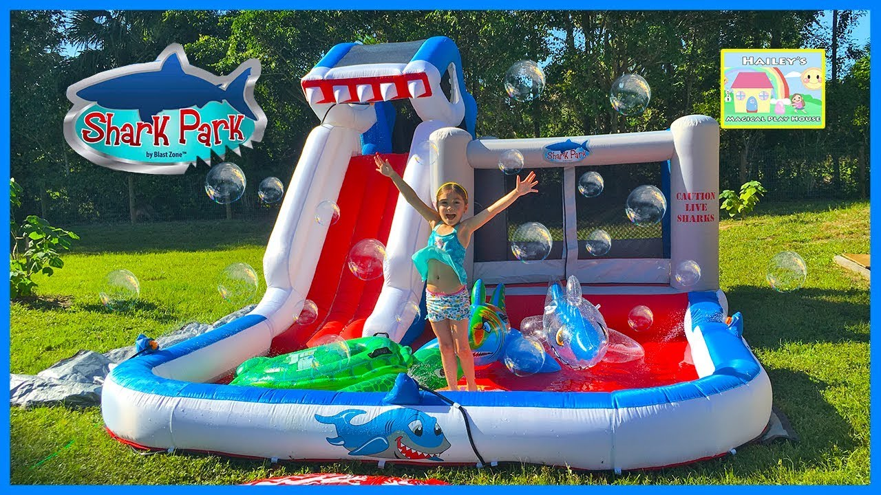 Huge Inflatable Water Slide WaterPark & Bouncer with Ball ...