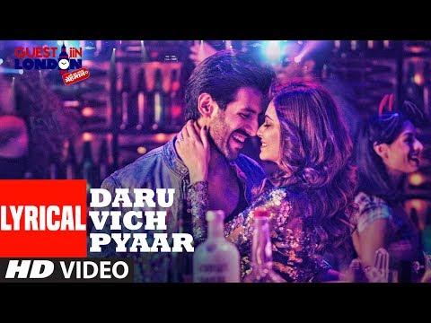 Daru Vich Pyaar Video With Lyrics | Guest Iin London | Raghav Sachar |  Kartik Aaryan &  Kriti