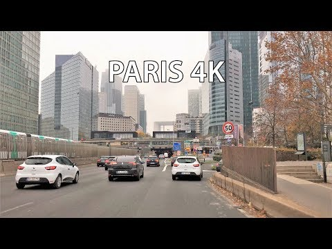 Paris 4K - Skyscraper District Drive - La Defense