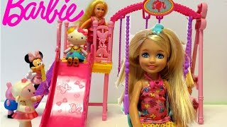 Barbie Chelsea Swing Set Peppa Pig Hello Kitty Minnie Mouse 바비 첼시 스윙 세트 헬로 키티 미니 마우스