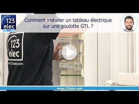 Comment installer un tableau électrique sur une goulotte GTL ?