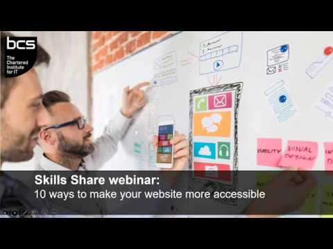 Skills Share:  How to make your website more accessible