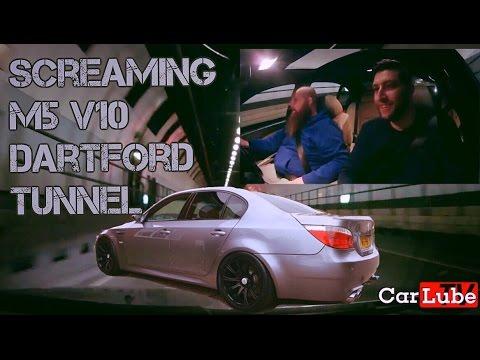 Dartford Tunnel in a screaming BMW M5