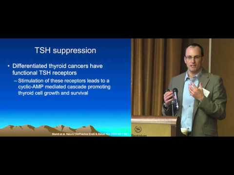 Thyroid Cancer: Thyroid Hormone Replacement. Research, When To Suppress TSH. Dr. Klopper.