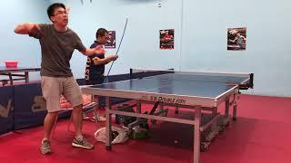 Pendulum Clockwise SideSpin Serve Practice - Harry Table Tennis