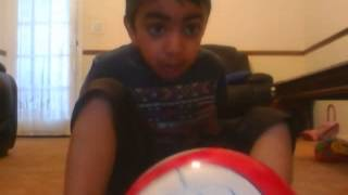 playing football inside