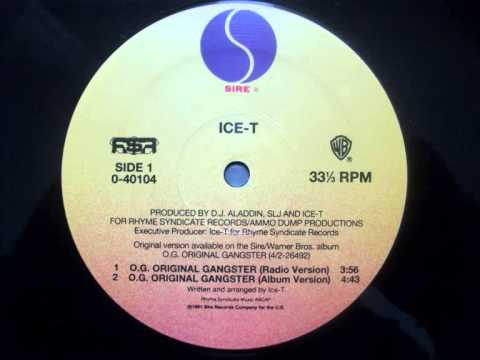 IceT  OG Original Gangster  1991 Radio Version
