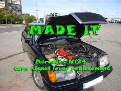 mercedes benz w124 230e wiring diagram for bt socket turn signal lever replacement and steering wheel removal