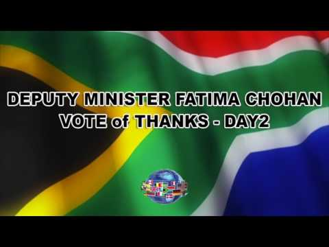 Vote of thanks by Deputy Minister Fatima Chohan - Day 2