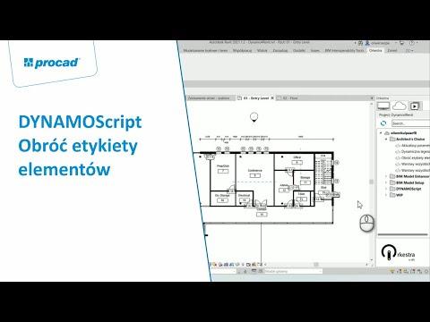 DYNAMOScript - Obróć etykiety elementów