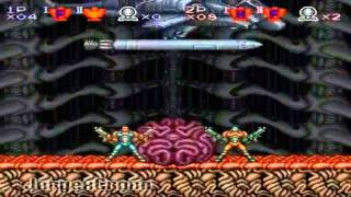 Contra 3 The Alien Wars - SNES - Final Boss - Modo Dificil