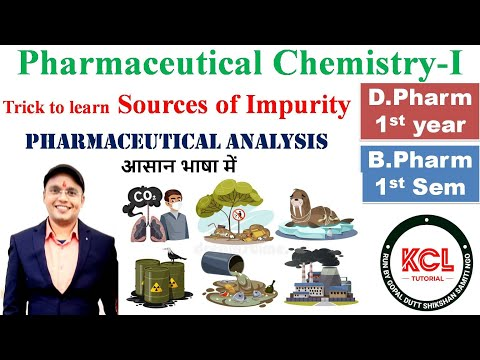 Sources of Impurity || Pharmaceutical Chemistry For  BPharm DPharm  || By Anurag Jaiswal || KCL ||