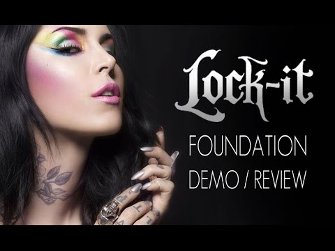 KAT VON D LOCK-IT  FOUNDATION DEMO/REVIEW IN 4K!