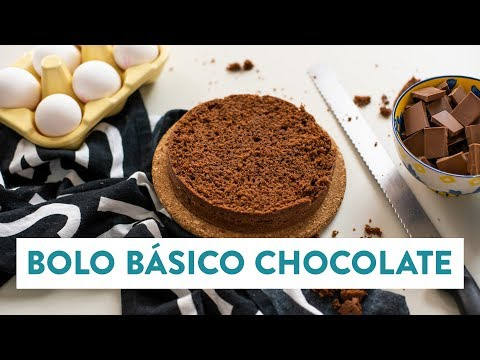 Bolo básico de chocolate | O Chef e a Chata