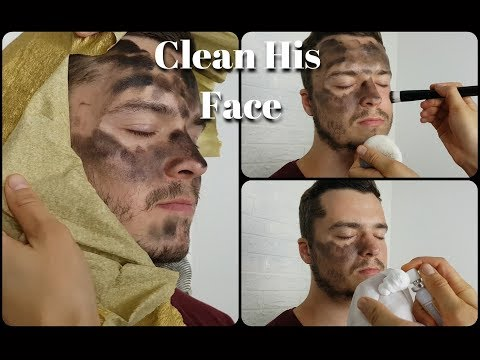 ASMR I Found Something Dirty - REAL Face Cleaning
