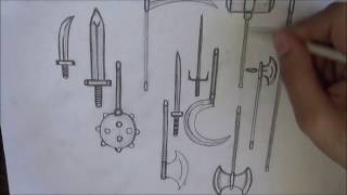 How Draw Medieval Weapons
