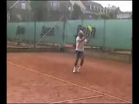 Young Rafael Nadal Slow Motion Forehand Youtube