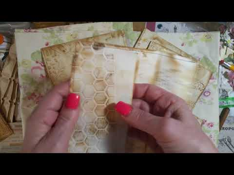 Handmade vintage envelopes