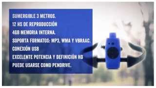 Auricular Reproductor Mp3 Sumergible Deportivo
