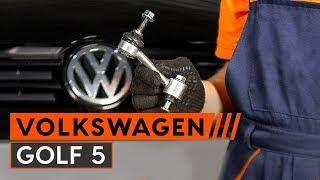 Montáž predné vpravo Vzpera stabilizátora VW GOLF: video príručky
