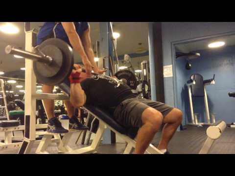 Mark Mcentee - 135 lb. Incline Bench Press x8