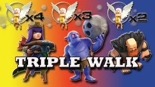 triple walk   aq bowlers giants walk   first time ever   new strategy for th9   clash of clans