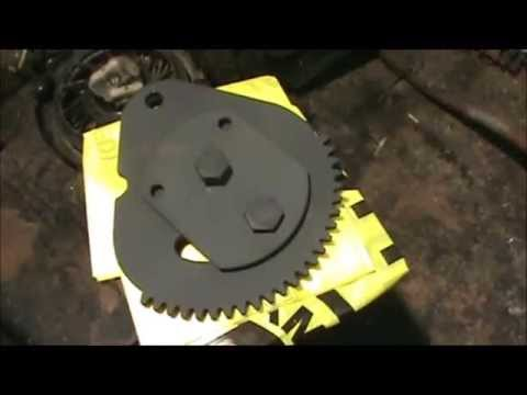 Replacement steering plate lawn mower