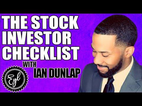 THE STOCK INVESTOR CHECKLIST