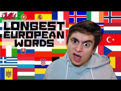 Longest European Words & Meanings