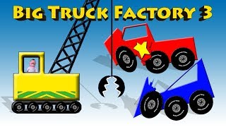 Big Truck Factory 3 - Learn Shapes and Recycling Video For Children
