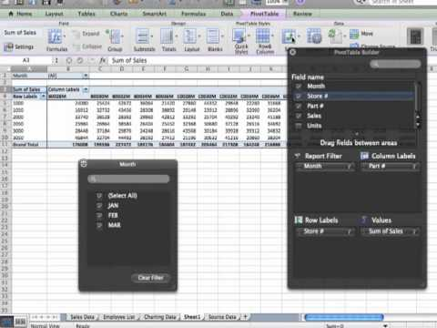 Office 2011 For Mac Pivot Tables In Excel Youtube