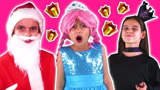 CHRISTMAS PRESENTS STOLEN 🎁 Malice Steals Princess Gifts? - Princesses In Real Life | Kiddyzuzaa
