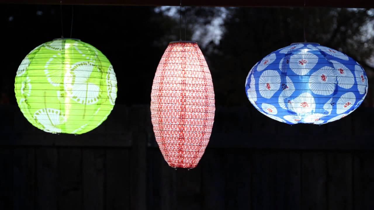 Soji Solar Lanterns Prints From Allsop Garden | Www.allsopgarden.com