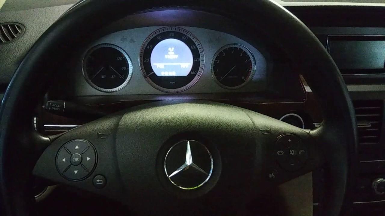 2011 mercedes glk350 maintenance reset resetear luz de for Mercedes benz check coolant level