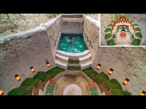 How To Build and Decoration a Modern Secret Underground Swimming Pool and Underground House