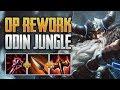 NEW ODIN VS 4 PROS! Odin Jungle Gameplay (SMITE Season 7 PTS)